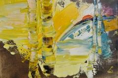Birken. September / Öl/Leinwand / 18x13 / - verkauft -