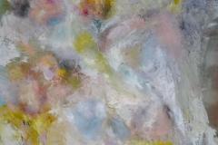 Blumen in Blau / Öl/Leinwand / 79x60