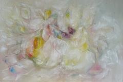 Stilleben mit weißen Blüten / Öl/Leinwand / 90x60 / - nicht zu erwerben -