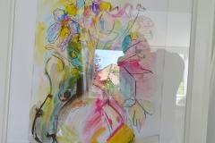 Blumen Bunt / Pastellkreide/Mischtechnik / 29x42