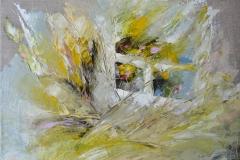 Fenster Bunt mit Blumen Lila / Öl/Leinwand / 40x30 / - nicht zu erwerben -