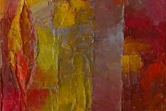 Herbst Rot / Öl/Leinwand / 18x24