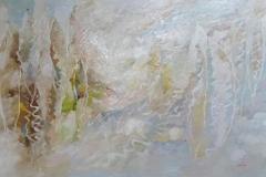 Landschaft Blau / Öl/Leinwand / 100x70