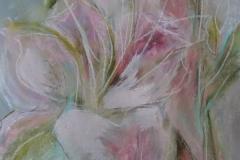 Pink Lily / Pastellkreide / 24x32 / - verkauft -