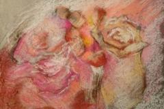 Elfe in Rosen / Pastellkreide / 18x13 / - nicht zu erwerben -