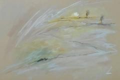 einfache Perspektive Nr 1 / Pastellkreide / 42x29