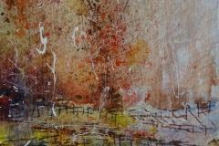 Herbstfarben. Oktober / Aquarell / 10 x 15